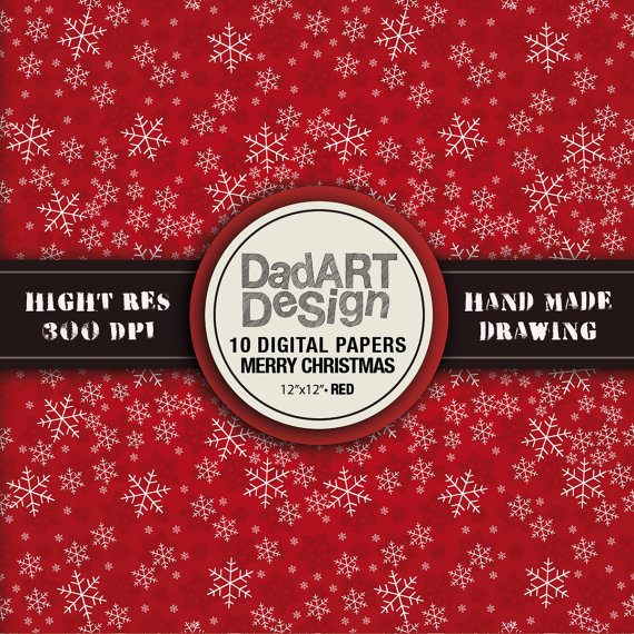 10 christmas patterns digital paper pack hi res by DADARTDESIGN